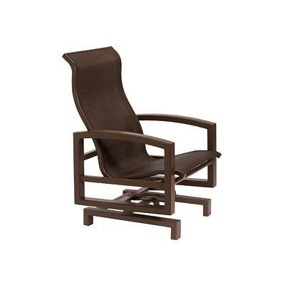 Tropitone Lakeside Sling Action Lounge Chair Finish: Graphite, Fabric: Sparkling Water
