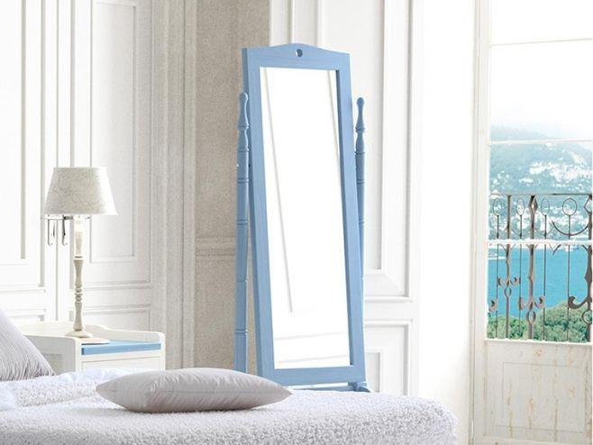 Grupo Seys Verona Solid Wood Dressing Mirror in Azul Cielo