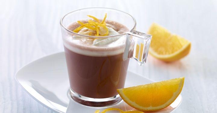 Varm sjokolade med krem og appelsin fra Melk.no