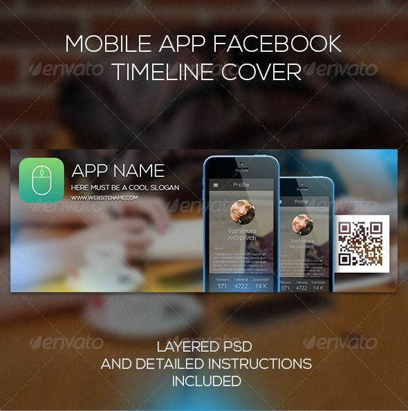 Mobile App Facebook  Timeline Cover #photoshop #psd #awesome #cool • Available here → https://graphicriver.net/item/mobile-app-facebook-timeline-cover/6939650?ref=pxcr
