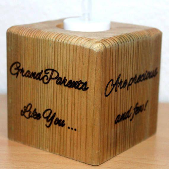 Grandparent Block - Grandparent Gift - Personalised Grandparents Gift -New Grandparent Gift- Pregnancy Announcement for Grandma Grandparents  £19.99
