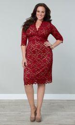 Lace Dress, Size 10-32W   ElegantPlus.com Editor's Pick #dresses #Christmas