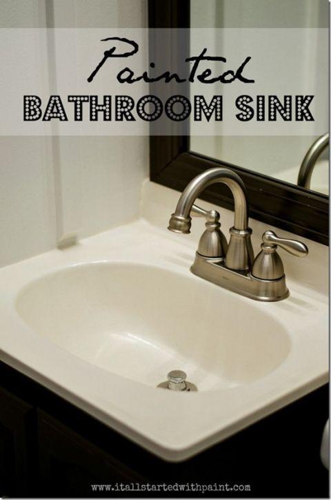 Best 25 Painting Bathroom Sinks Ideas On Pinterest