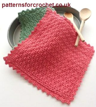 Free crochet pattern for a simple pot holder by Patterns For Crochet.
