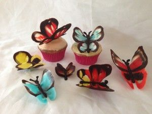 Chocolate butterflies by Ann Reardon of How To Cook That net --- how cool are these!
