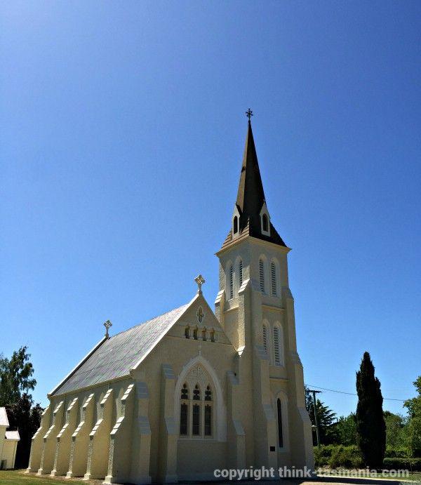 Evandale Heritage Walk - Tasmania (St Andrew's Church of England) #Evandale #Tasmania ~ article and photo for think-tasmania.com ~ #heritage #walking #church