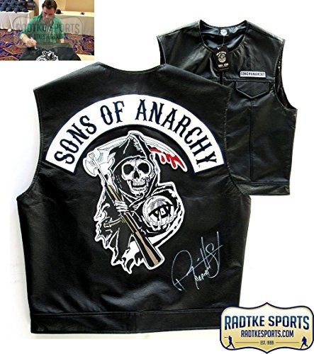 Ryan Hurst Opie Winston Autographed/Signed Officially Licensed Sons of Anarchy Reaper Logo Biker Vest with Opie Inscript @ niftywarehouse.com #NiftyWarehouse #Geek #Fun #Entertainment #Products