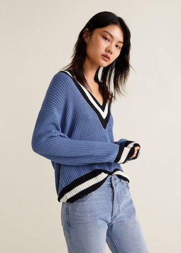 33f9081edfda Pullover pannelli contrasto - Cardigan e pullover da Donna ...