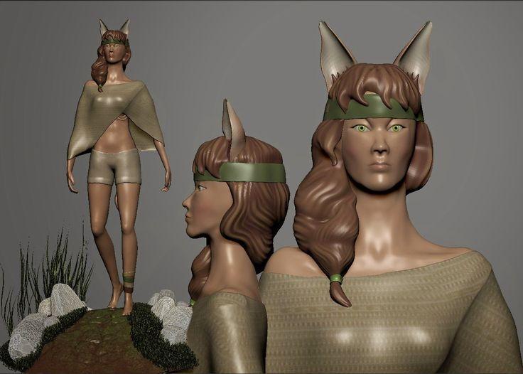 Bàrbara Ruisánchez Andreu: Personaje con ZBrush 3D character