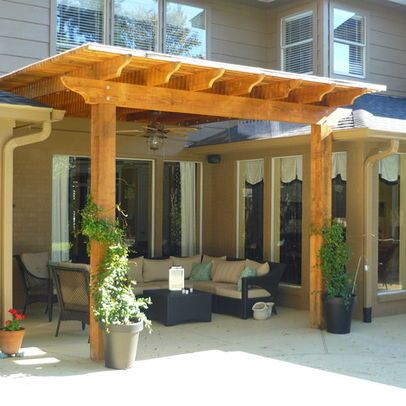 pergola with roof design ideas pictures remodel and decor decks rh pinterest com