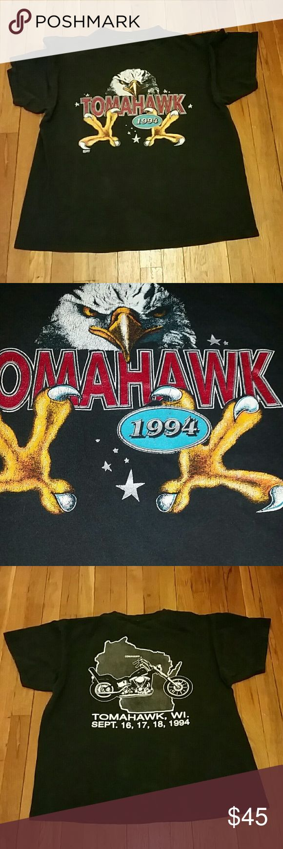 TOMAHAWK 1994 T-shirt Size men's xl/ Ladies xxl MID FLORIDA SPORTS . Tiny holes near top eagle claws. MID FLORIDA SPORTS Shirts Tees - Short Sleeve