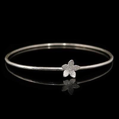 Star Catcher Silver Bangle | Forged Handmade Bracelet  Crafted in Dorset, UK