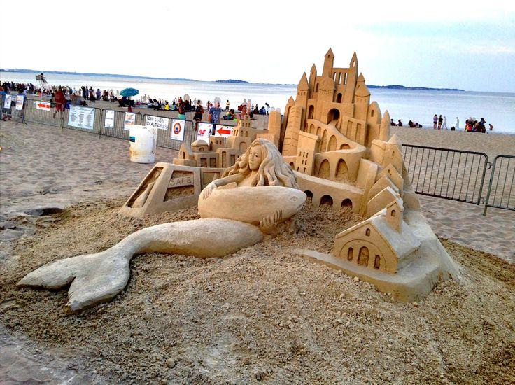 Большой песочный замок построить по фото