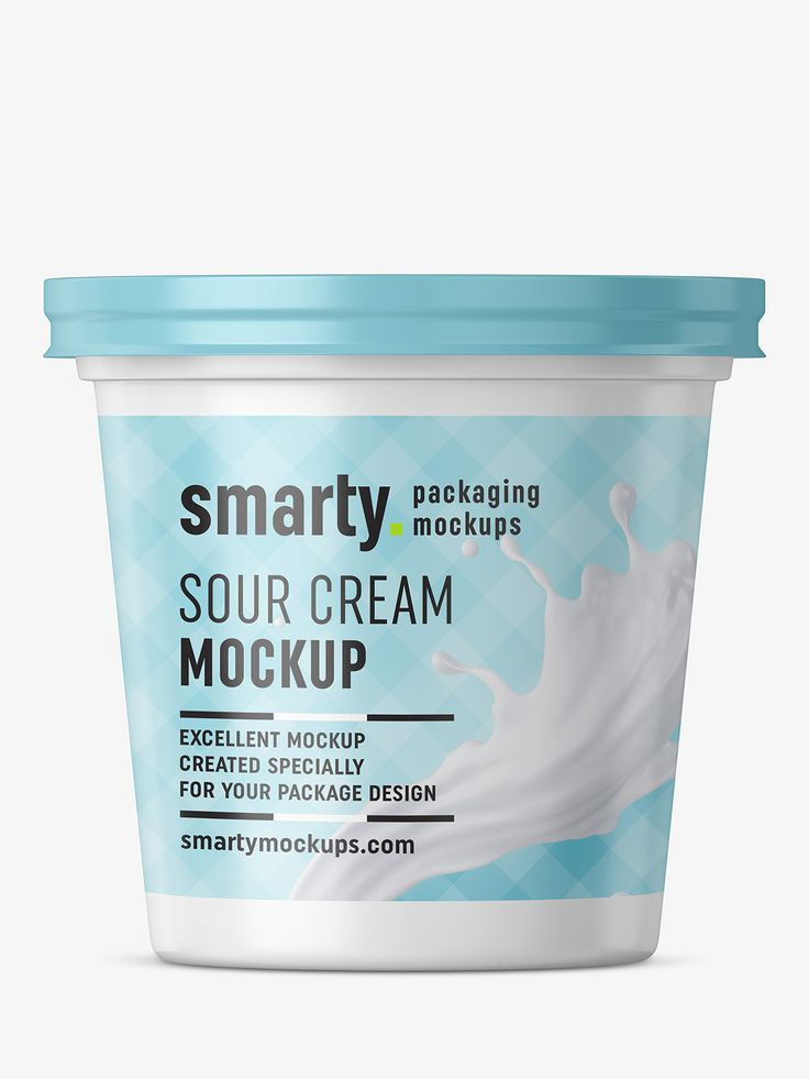 Sour cream mockup / front view