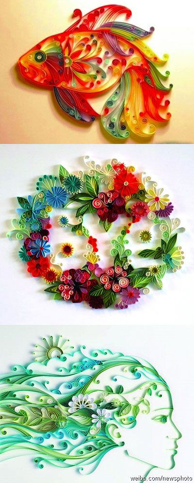 Paper quilling :: lc- this can be done with fondant and I BADLY want an excuse to do it - love these intricate designs! Probably try with nick lodge's tylose gum paste recipe since it rolls so very thin - would love to b able to shatter with a spoon and eat like sprinkles! BTW some online vendors sell a wider quilling tool for fondant
