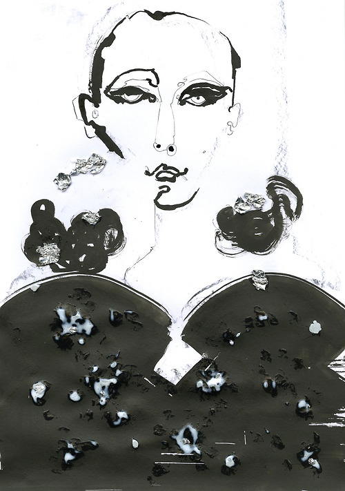 DSquared2 A/W 2013 illustrated by Fiona Gourlay for ShowStudio.