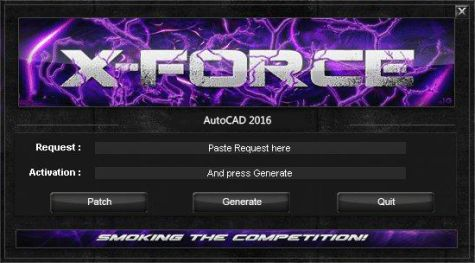 Download X-Force Keygen for AutoCAD 2016