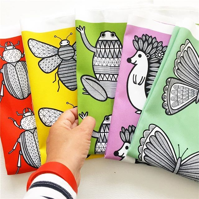 Am really enjoying designing my own fabrics at the moment - I get a real buzz when the postman delivers them! These are going to be made into purses soon! Beetle, bee, frog, hedgehog and butterfly. These are on a small scale but I hope to one day create a range for a fabric company!