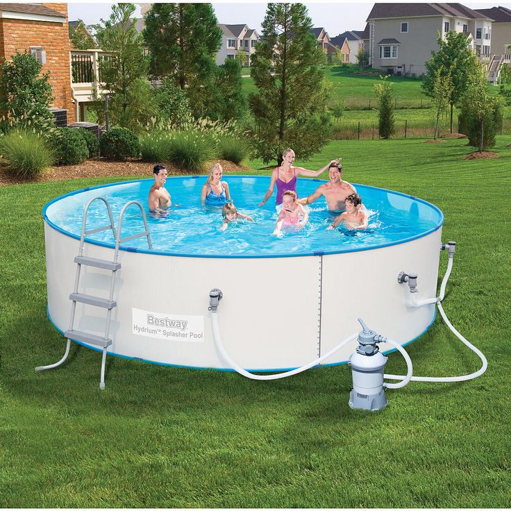 Make this summer a fun one for you and your family with the 15 feet x 36 inch Bestway® Steel Wall Pool. This pool is built to stay up 365 days a year! It features thick 0.4 mm steel sidewalls to ensure your pool lasts season after season. Added features are rust-resistant metal frames and a flow control drain valve for easy draining. With proper maintenance, your Bestway Steel Wall Pool will give your family years of summer swimming The UV coated liner protects against sun damage. It als...