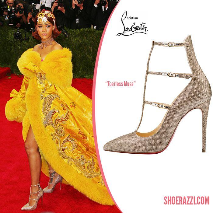 Rihanna in Christian Louboutin Toerless Muse Fall 2015 Pumps ...