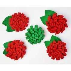 Tre spille con fiori fai da te: feltro o uncinetto - Cucicucicoo