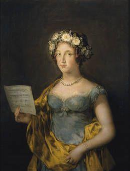 La duquesa de Abrantes Doña Manuela Isidra Téllez-Girón y Alonso de Pimentel (1793-1838) fue la hija menor de los duques de Osuna ) y hermana de la marquesa de Santa Cruz, retratada asimismo por Goya. En 1813 casó con don Ángel María de Carvajal y Fernández de Córdoba y Gonzaga (1793-1839), futuro VIII duque de Abrantes (1816). Como el resto de sus hermanos recibió de su familia una educación ilustrada y entre sus aficiones estaba la MÚSICA y el CANTO, como revela Goya en su retrato por…