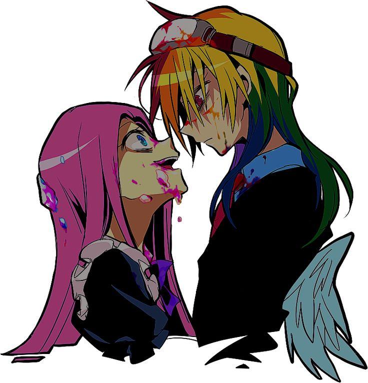Pinkamena and Rainbow Dash (rainbow factory)