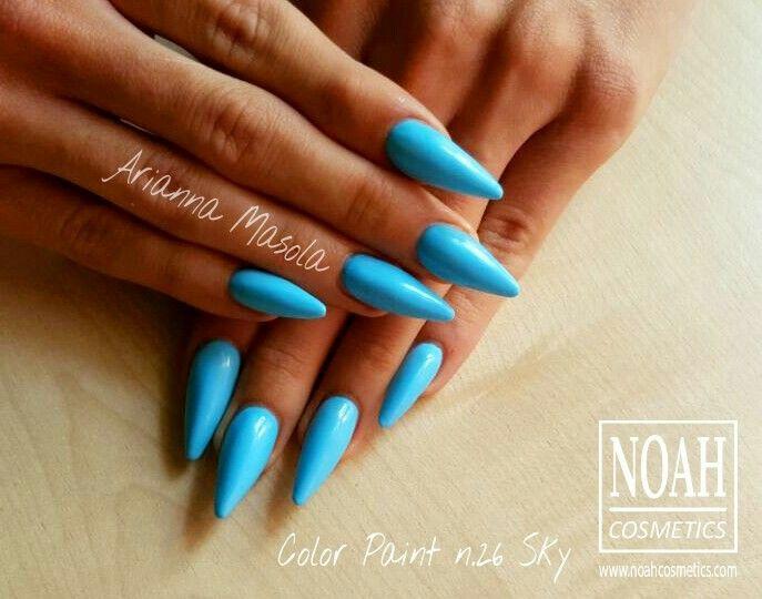 Gel colorato azzurro pastello n.26 Sky,. Scopri tutta la gamma dei #gelcolorati per #ricostruzioneunghie cliccando sul link http://www.noahcosmetics.com/212-gel-colorati