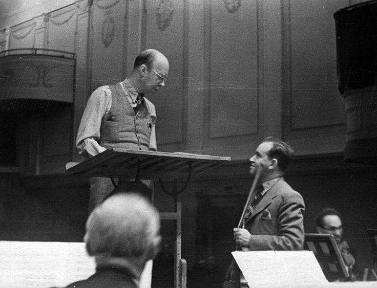 Sergei Prokofiev with a young David Oistrakh