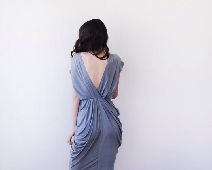 Urban gray bridesmaids maxi gown, Maxi short sleeves grey gown by BLUSHFASHION on Etsy https://www.etsy.com/listing/190965463/urban-gray-bridesmaids-maxi-gown-maxi