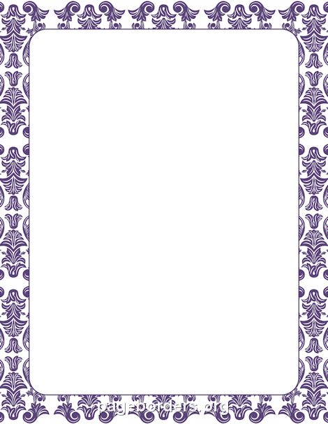 Printable Purple Damask Border Use The Border In