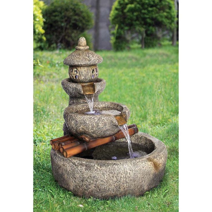 Garden Design Japanese Water Fountain In Mall With Chic