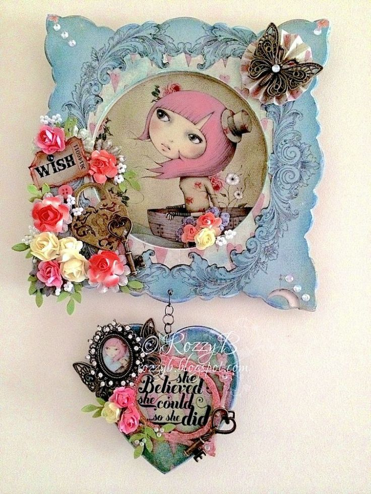 A beautiful Santoro Mirabelle Paper Craft Project by rozpoz