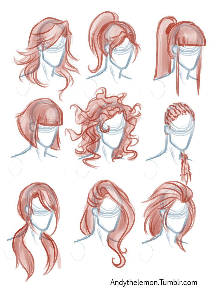Character Design Tips : I adore drawing hair really love the designs here
