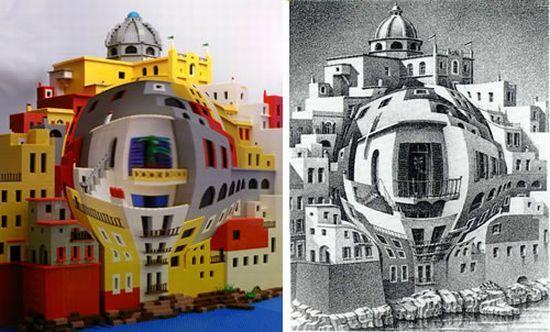 M C Escher World In Lego