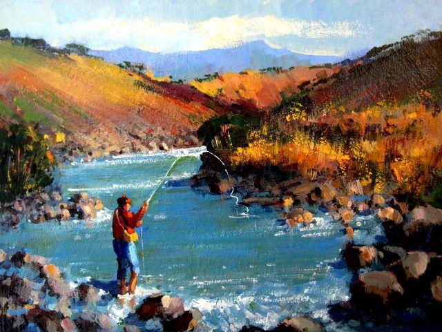 Drakensberg Escarpment - Painting By Heather Auer  WhereToStay Drakensberg & Surroundings Fresh-Water Fishing Accommodation https://www.wheretostay.co.za/region/drakensberg-and-surrounds/fresh-water-fishing
