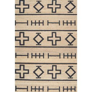 Scandinavian Area Rugs by nuLOOM Geometric Area Rug, Natural, 8'x10'