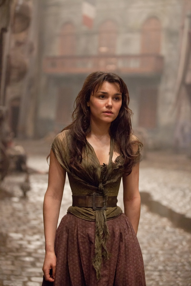 Samantha Barks as Eponine in Les Miserables. Costume Designer Paco Delgado.
