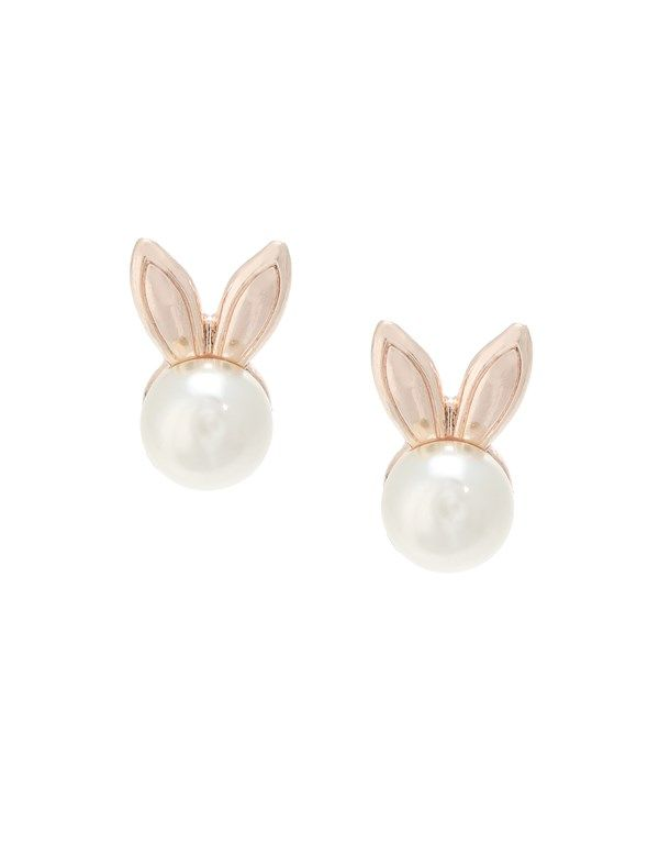 Ariana Grande For Lipsy Pearl Bunny Stud Earrings