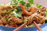 Easy, superb Pad Thai sauce recipe. Tastes just like the restaurant's! Can be easily made vegetarian by substituting chicken broth with vegetable stock and fish sauce with red wine vinegar.