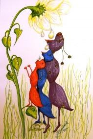 My submission for Illustration Friday, Topic Tall.  Brenda K Hendricks