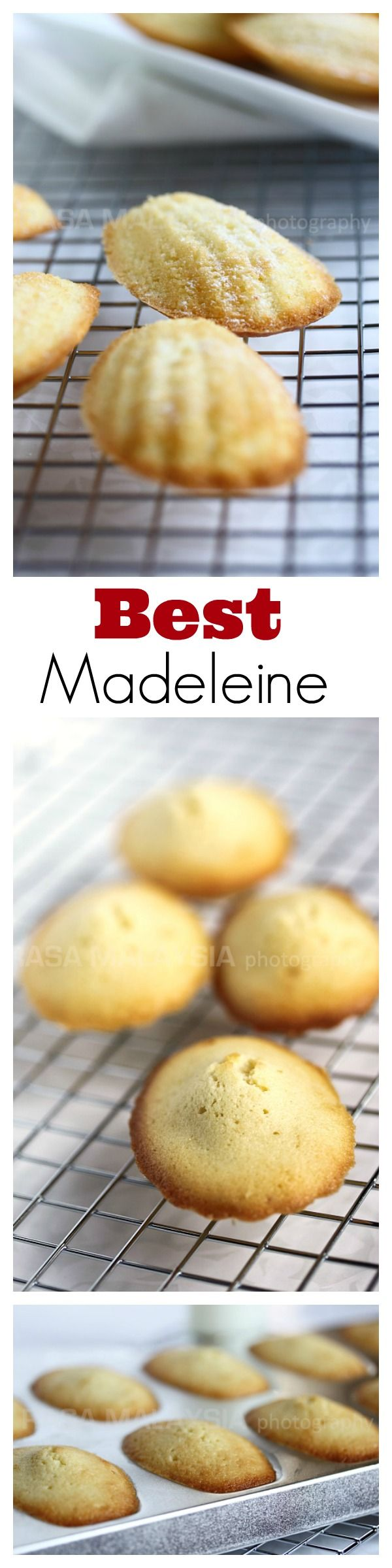 Madeleine is a French cookie/cake made of butter eggs and flour. Easy recipe for the best madeleine that you can't stop eating.