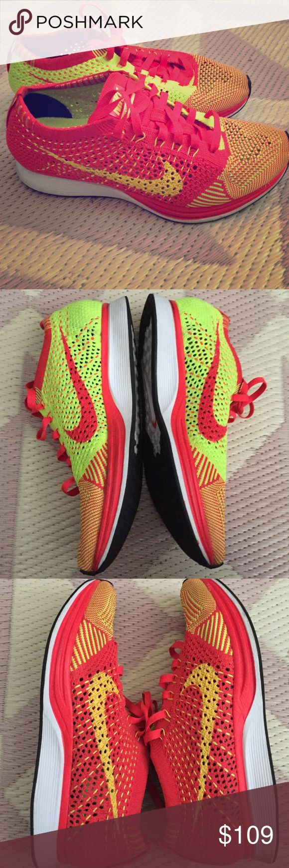 Nike Multicolor Flyknit Racers Multicolor Nike Flyknit Racers 6.5 women/5 Kids Nike Shoes Athletic Shoes