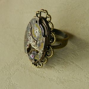 Image of Steampunk Rustic Clockwork Ring