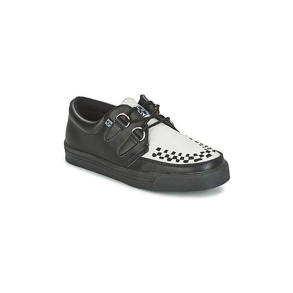 TUK CREEPERS SNEAKERS Casual Shoes ($82) ❤ liked on Polyvore featuring shoes, sneakers, black, black shoes, black creeper shoes, creeper sneakers, t.u.k. sneakers and kohl shoes