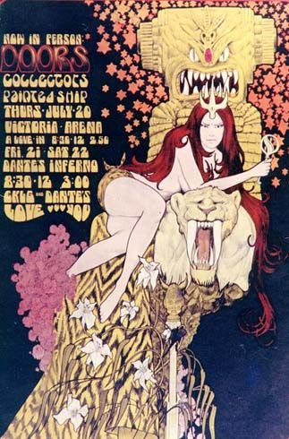 1967 concert poster for The Doors