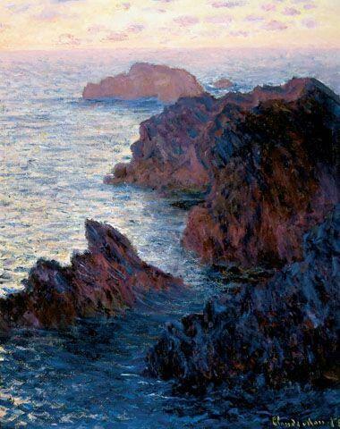 Claude Monet, Rocks at Belle Ile, Port Dormois