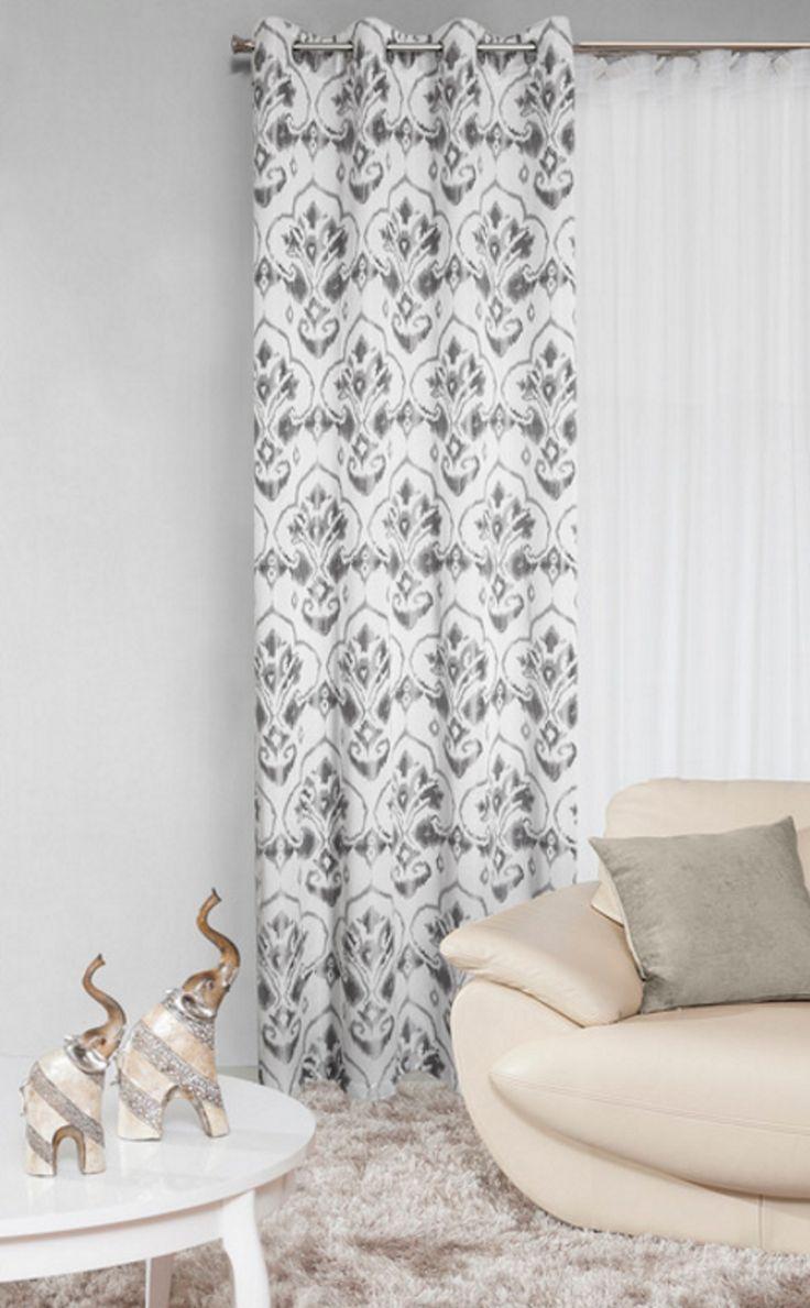 Zasłona stalowa do sypialni na przelotkach