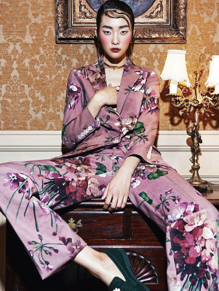 Oriental Seduction: Ji Young Kwak by Kim Yeongjun by Harper's Bazaar Korea September 2015 - GUCCI Fall 2015