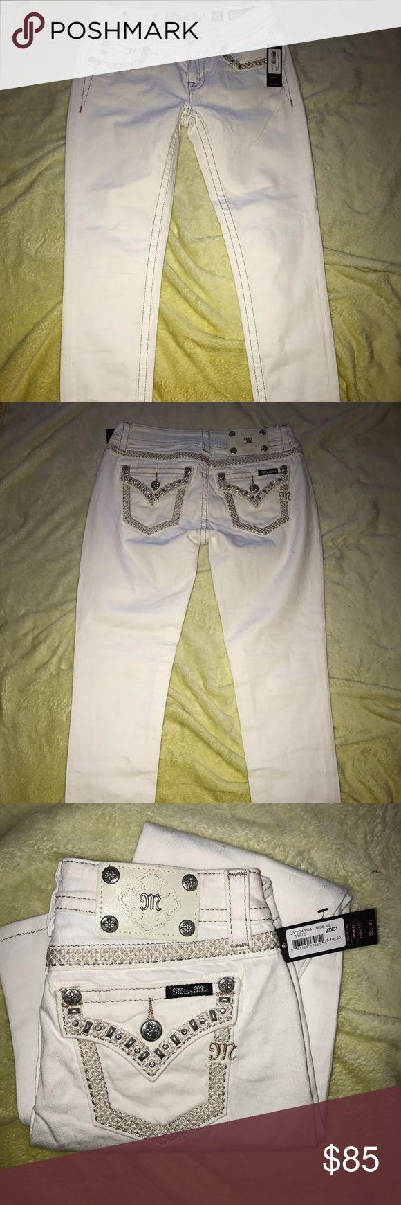 Brand new Miss me Brand new white 27/31 Miss Me Jeans Skinny